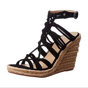 Johnston & Murphy • Mindy wedge sandal black braid